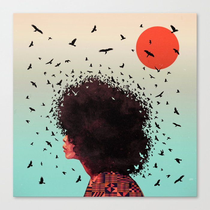 Buy Erykah Canvas Print By Kaikoo Worldwide Shipping Available At Society6 Com Just One Of Millions Of High Quality Products In 2020 Female Art Art Framed Art Prints