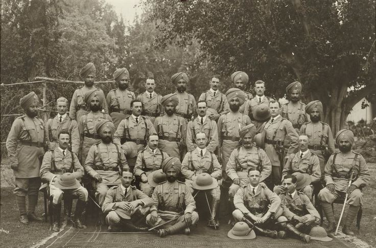 14th Sikhs , Peshawar 1913  This photograph by Randolph Bezzant Holmes shows British & Sikh officers of 14th Sikhs at Peshawar a year before the war.  Of the 28 men shown, 16 lost their lives in the Great war. Ten on a single day , 4th June 1915 during the third battle of Krithia.