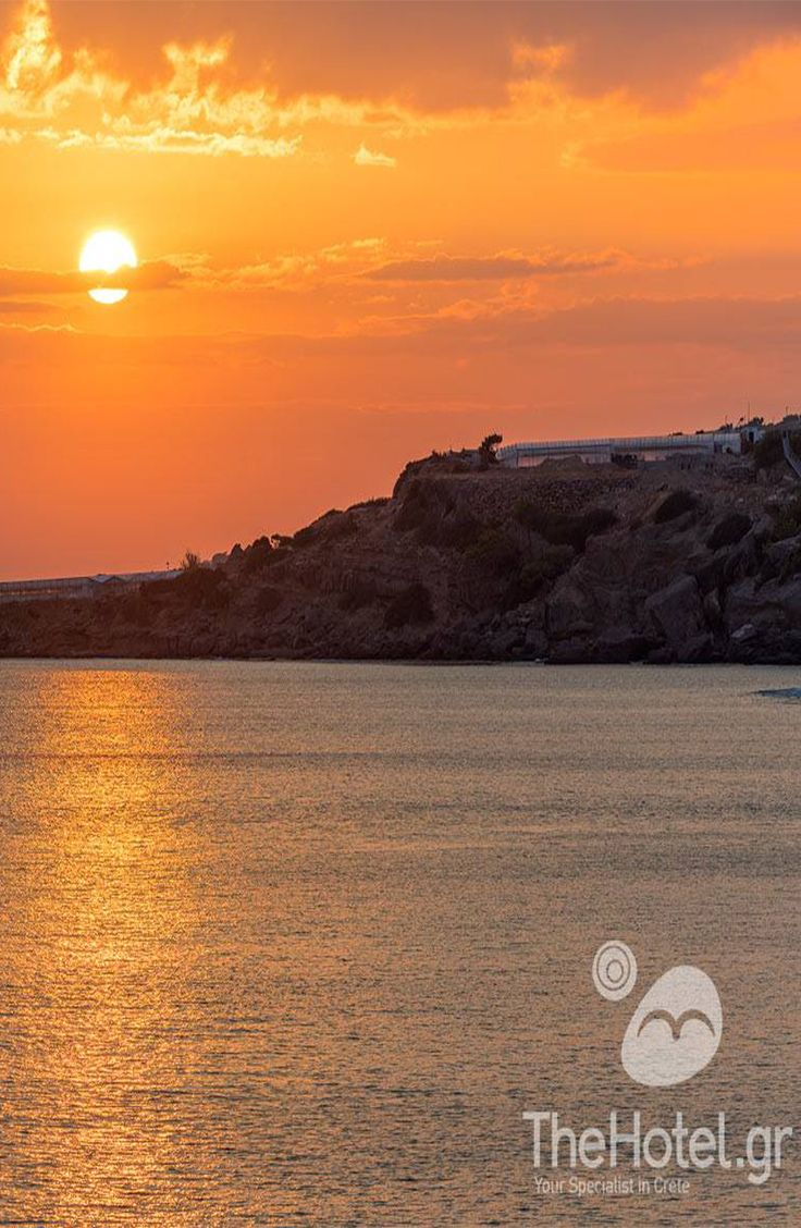Enjoy beautiful sunsets in Greece. Visit our site and design your holidays in Crete!