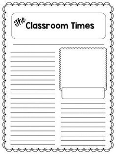 Your students will enjoy publishing their newspaper articles on these attractive and student friendly templates. Use them for individual students to publish their articles, or to create a class newspaper. Included is a variety of front pages with various titles, as well as three different back pages to choose from.