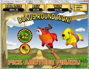 Jackpot Pinatas: it's fiesta time! play this fun Mexican style video slot  with a party theme and a  pick-a-prize bonus screen! which has a bonus multiplier and free spins! Try Jackpot Pinatas at Wild Vegas Casino Jackpot pinatas is brought to you by Real Time Gaming (RTG) software in the form of a five- reel, twenty-payline real series […]