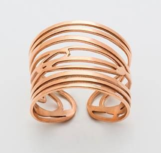 Gold platted ring matches the bracelet. You can buy it online use a Consultant name me: Marcia Percival https://www.envyjewellery.net/