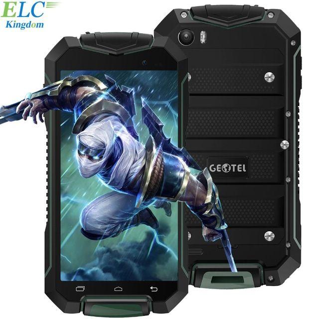 Oryginalny Geotel A1 4.5 ''HD Telefon komórkowy Android 7.0 Wodoodporny 1 GB MTK6580M RAM 8 GB ROM Quad Core 3400 mAh GPS Dual Sim WCDMA
