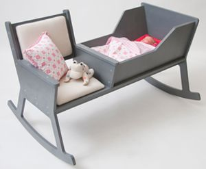 A rocking chair and bassinet in one. Very cool idea.