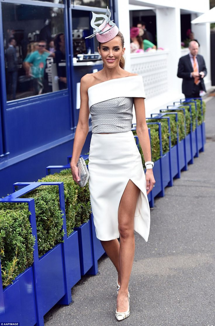 Her she comes: The thigh's the limit: Rebecca Judd proved to be another head turner courte...