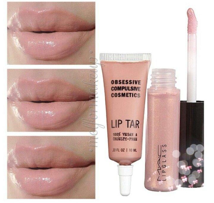 OCC Hush Lip Tar  MAC Oyster lipglass