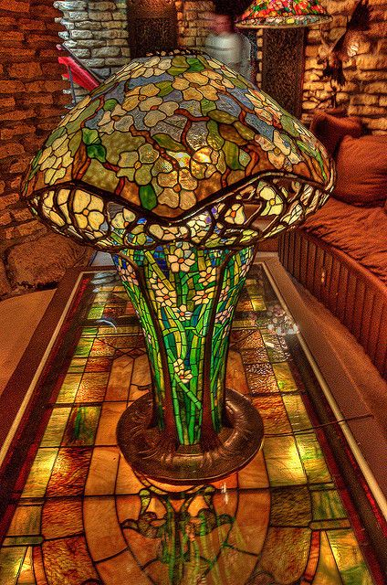 Just one of the amazing lamps on display at the House on the Rock, outside Spring Green, Wisconsin. Tiffany lamp.