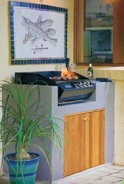 build a built in braai/BBQ for the patio