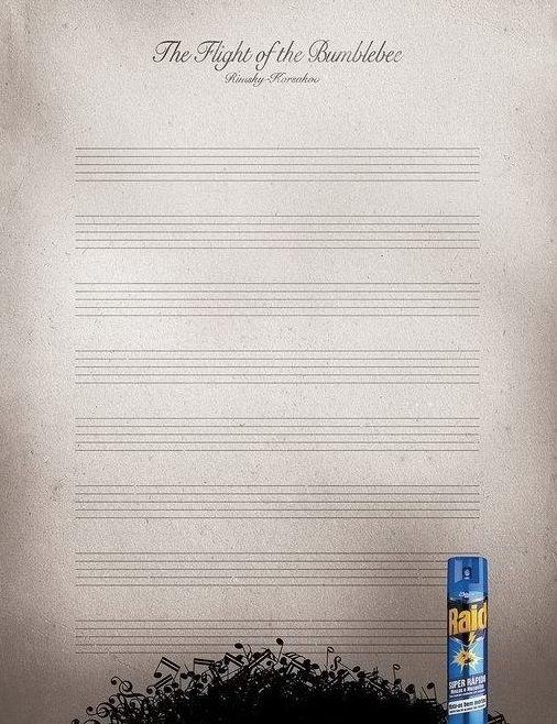 Raidの秀逸な広告「熊蜂の飛行」