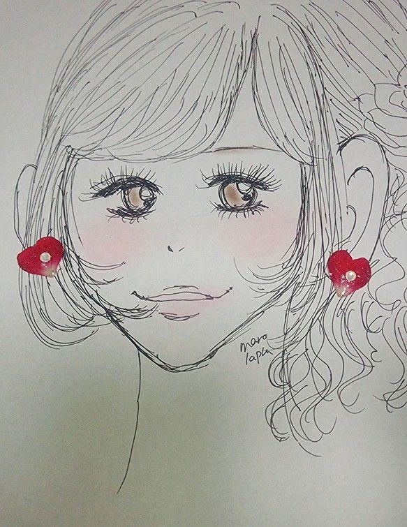 小さなひと粒ピアスです。赤いバラの花びらに、オパールのスワロフスキーが優しく輝きます。コーディネートのワンポイントにもぴったりです。 赤いリップに、このピアス...|ハンドメイド、手作り、手仕事品の通販・販売・購入ならCreema。