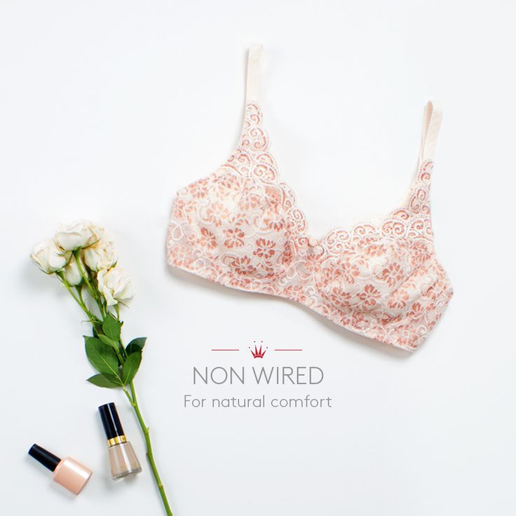 Soften your look with the nude non-wired bra from the#Amourette300 collection. This particular design is known for its undeniable elegance. Photographed: Amourette 300 nude non wired bra #TriumphLingerie #Amourette
