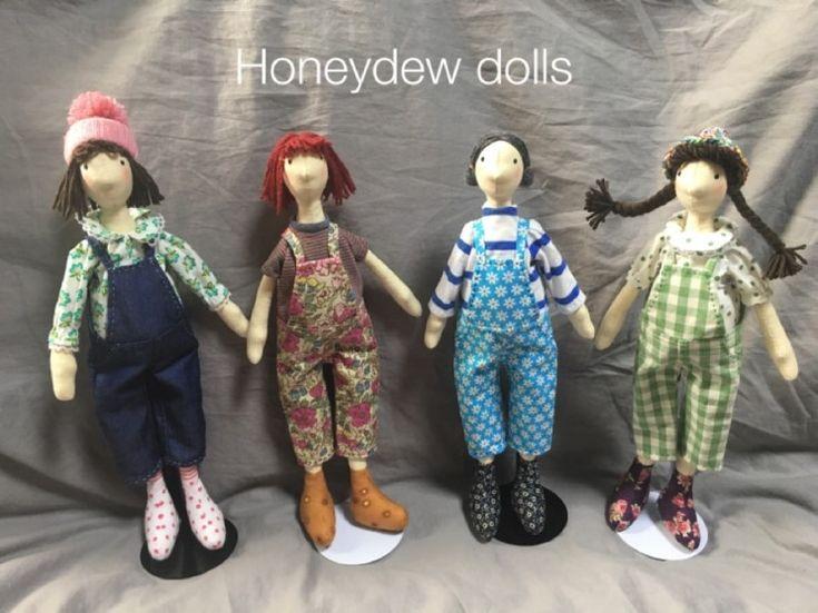 """Honeydew dolls 의 오버롤 팬츠 시리즈 핸드메이드 인형 """"크리스틴"""" """"메릴린"""" """"애플"""" """"웬디"""" 이렇게 함께 ..."""