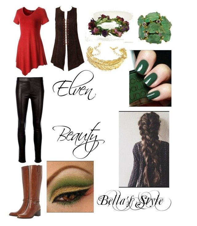 """Elven Beauty (Elf Huntress)"" by bellathebeauty17 ❤ liked on Polyvore featuring Christian Lacroix, Dune Black, Helmut Lang and Oscar de la Renta"