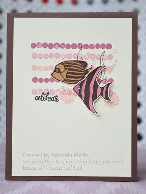 Did You Stamp Today?: Pretty Plum Fish - Stampin' Up! Seaside Shore