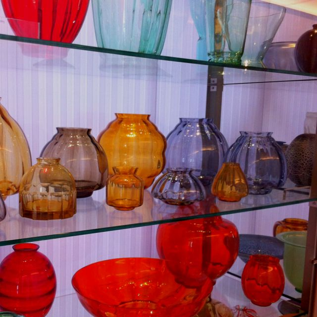 Legendary glass artist Copier, picture taken in National Glasmuseum in Leerdam!