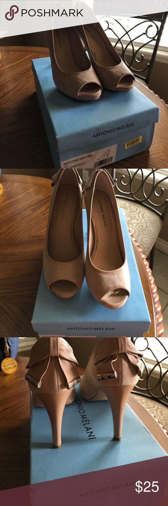 So Cute! Antonio Melani Fantastic condition! Beautiful Nude pair of heels ANTONIO MELANI Shoes Heels