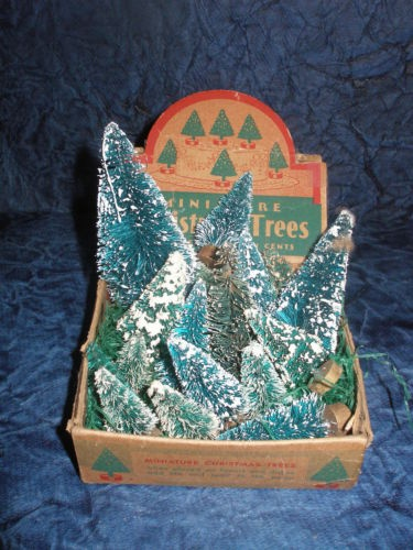 Vintage Christmas Store Display of Brush Trees // wouldn't be christmas without them...