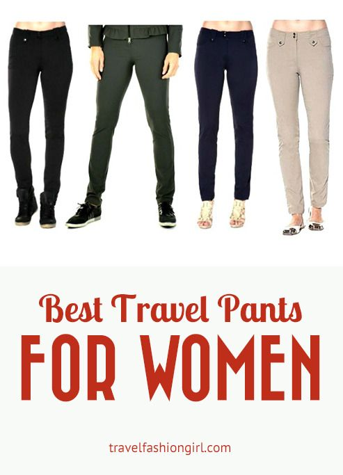 The Best Travel Pants for women don't have to be bulky and boring travel threads. Anatomie offers fashion and function travel pants that look good anywhere!  www.travelfashiongirl.com