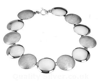 Tianguis Jackson Silver Contrasting Discs Necklace