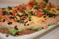7 Layer Mexican Dip Super Bowl Recipe - 3 Points   - LaaLoosh