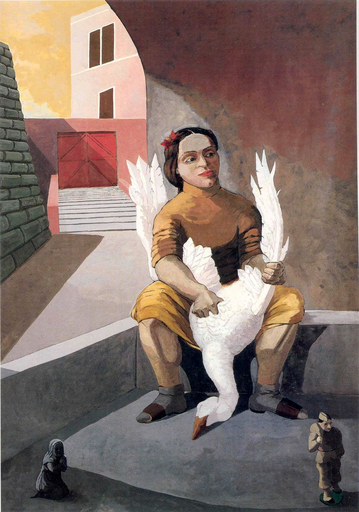 Paula Rego. The Soldier's Daughter, 1987. Acrylic on paper on canvas, 213.4 x 152.4cm