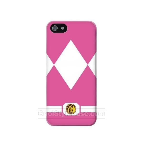 Ladies Pink Mighty Morphin Power Ranger Minimalist Best USD19.99 full wrap mobile phone case for IPHONE 5 with Free Waterproof Bag Limited Time Offer