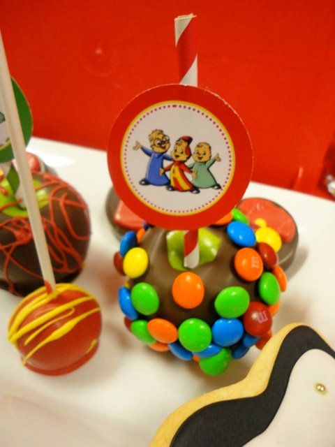 Alvin & Chipmunk Party - Candy Apples