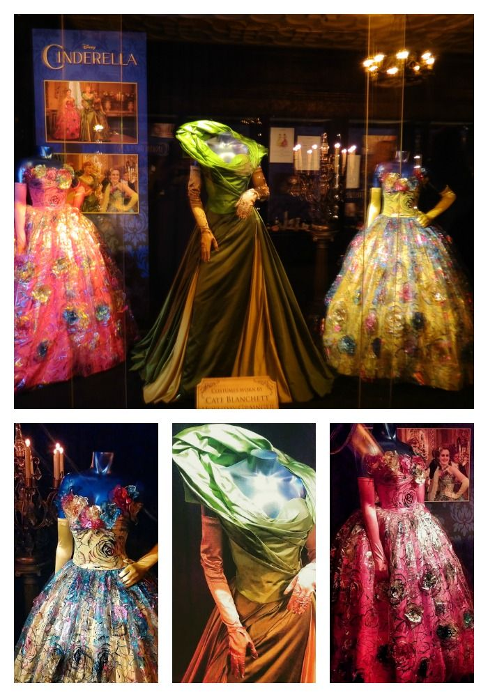 Costumes from the Cinderella Movie 2015 the wicked stepmother and wicked stepsisters. Costume designer for the film, Sandy Powell brings high fashion to fairy tale in the colorful and dramatic all new Cinderella 2015.