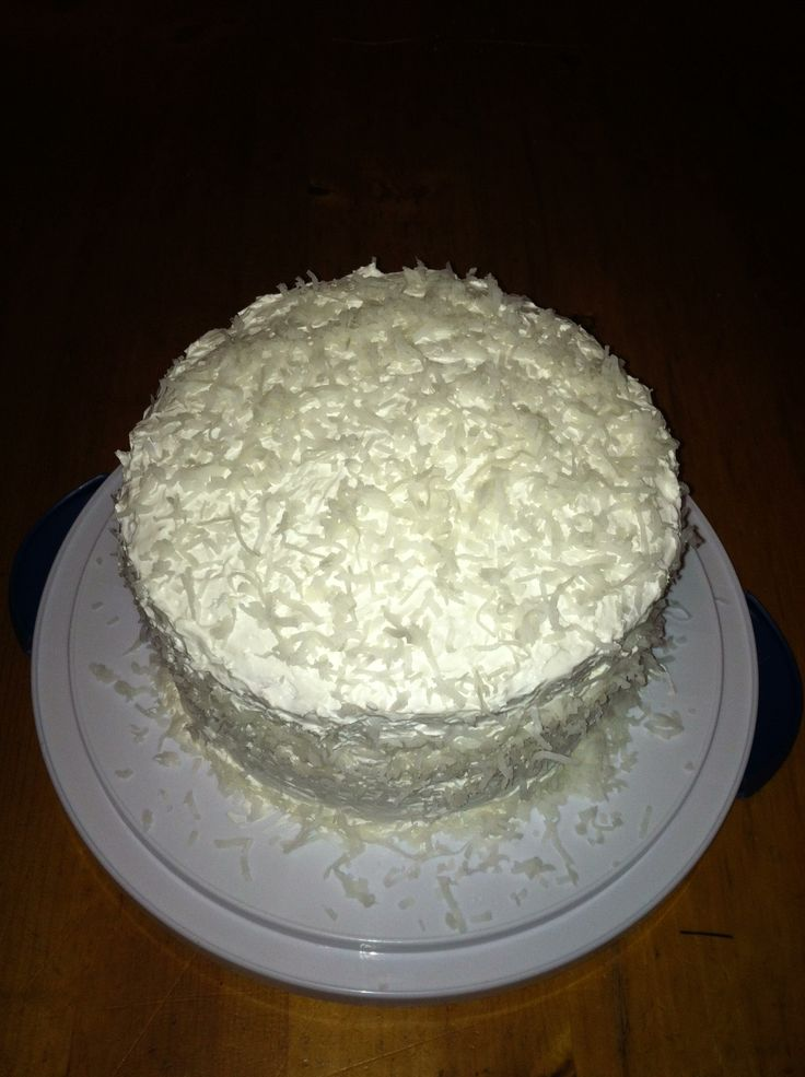 Sour Cream Coconut Cake 1 Betty Crocker Mix 8oz Cool Whip 3
