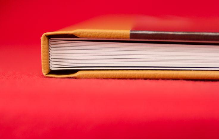 Hochzeitsalbum mit Ledercover | Wedding Book with leather cover | Fotobuch | schmaler Bund | cognac | by Photogracia Wedding