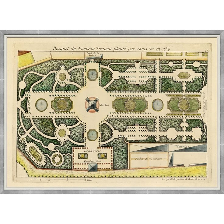 Century French Garden Plans  I Think That Is The Pavilion Francais