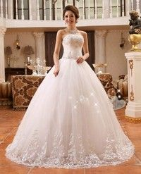 Wedding Dress Ball Gown Bridal Gown Sleeveless Strapless Bridal Dress With Lace Size in Cm  XXS    B