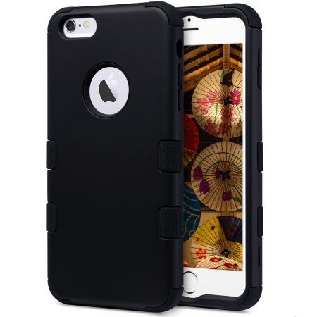 """Free Shipping. Buy iPhone 6 Plus Case, iPhone 6s Plus Case, ULAK 3-Layer Impact Resistant Hybrid Shockproof Soft Silicone Hard PC Protective Cover Case For Apple iPhone 6 Plus 6s Plus ( 5.5"""") at Walmart.com"""