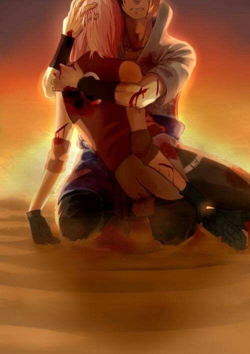 Sasuke holding Sakura | Anime naruto | Naruto sasuke sakura