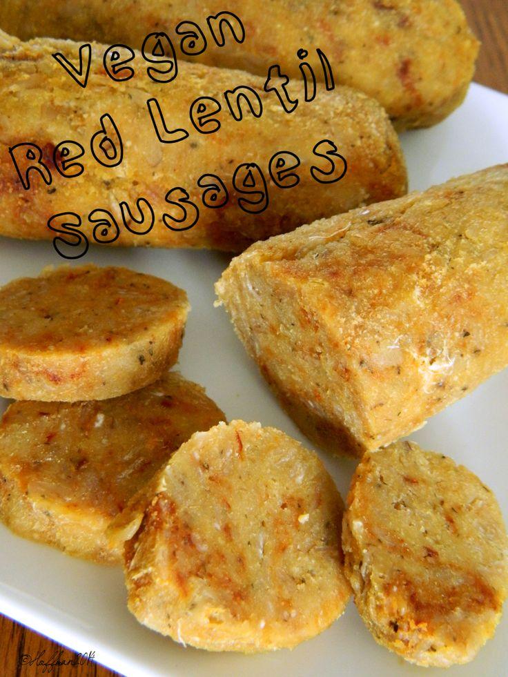 Vegan Red Lentil Sausages