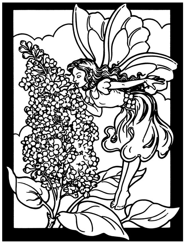 Butterfly Fairy Flowers Coloring Pages Colouring Adult Detailed Advanced Printable Kleuren Voor Volwassenen