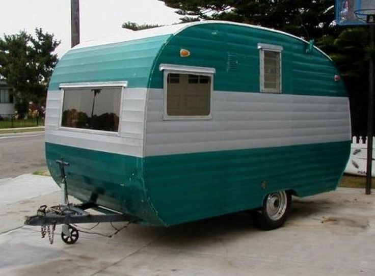Best Vintage Camper Makeover Images On Pinterest Vintage - Old shabby trailer gets one hell makeover