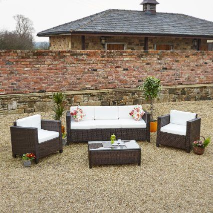 large garden furniture cover. £340 3 4 5 And 7 Seater ROMA Rattan Garden Furniture Large Sofa Sets Chair Cover N