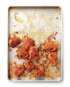 VIDEO - MARTHA STEWART - ORANGE GLAZED CHICKEN THIGHS - To serve a crowd, try this sweet glaze on 4 pounds of chicken wings.