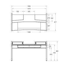 Image result for studio desk dimensions