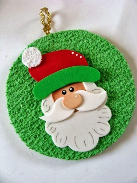 Decoración+navideña+con+CD+y+fomi+(goma+EVA)