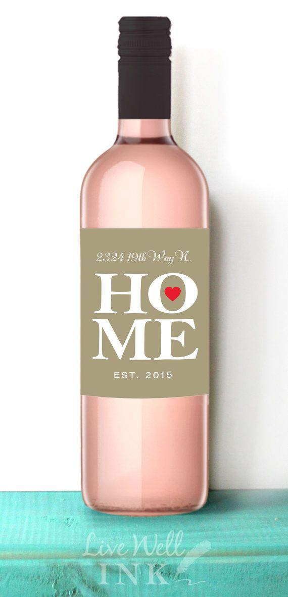Welcome To New Home Gifts Part - 41: Welcome Home Custom Wine Labels House Warming New By Livewellink