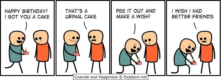 Cyanide and Happiness Birthday funny meme