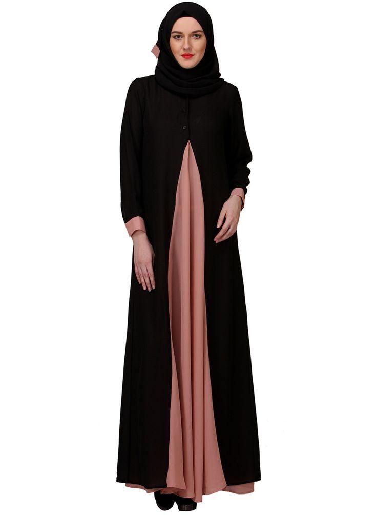 Black Heather Moss Abaya