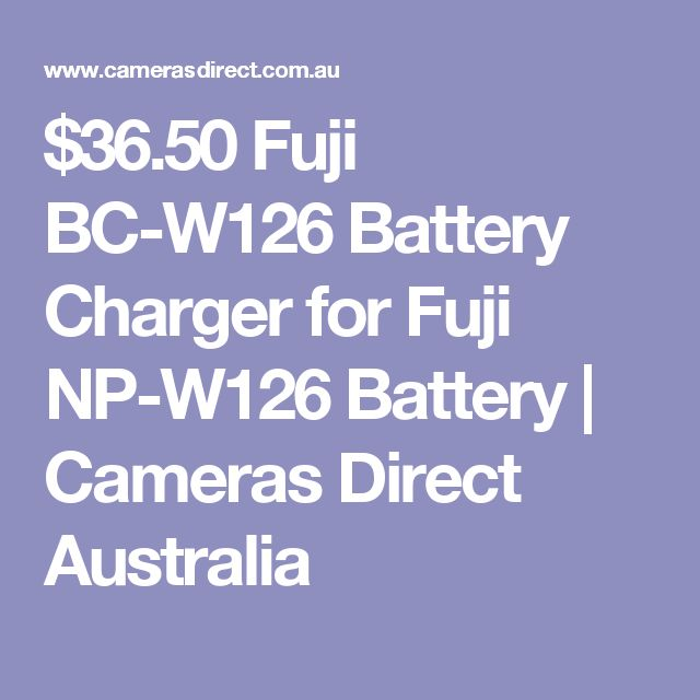 $36.50 Fuji BC-W126 Battery Charger for Fuji NP-W126 Battery | Cameras Direct Australia