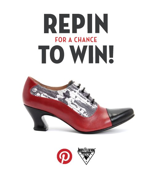 Log into your Pinterest account, go to Fluevog's Pinterest Page and repin this Wonders K2 image from our Pinterest for a chance to WIN a pair of Fall/Winter 2013 Wonders K2! IMPORTANT: After you have followed us, and repinned the image to any of your Pinterest boards, you must include #repintowinvogs in the description. Entries without #repintowinvogs cannot be …