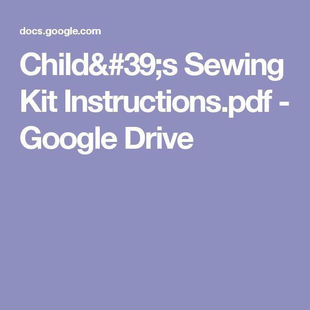 Child's Sewing Kit Instructions.pdf - Google Drive