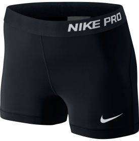 "Enhance your athletic performance with the Nike® Pro 3"" Compression Shorts. These Nike® compression shorts take shape to your body, producing maximum mobility for a comfortable workout experience. Flat seams and an updated waistband enable these Nike® Women's Compression Shorts to boost your comfort, fit and feel, while wicking away moisture to provide you with a productive workout."