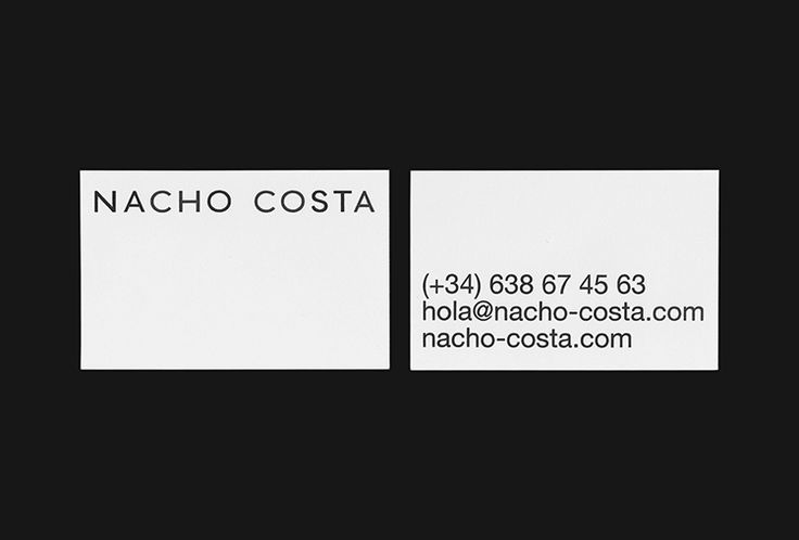 Picture of 3 designed by Fetén Studio for the project Nacho Costa. Published on the Visual Journal in date 12 January 2017