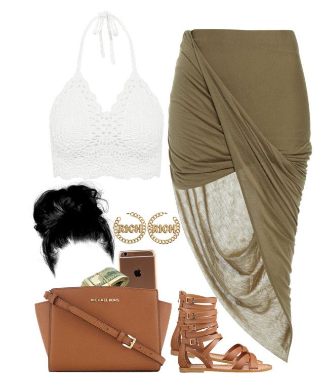 """ʸºᵘ"" by imabitch-987 ❤ liked on Polyvore featuring Bardot, Nine West and MICHAEL Michael Kors"